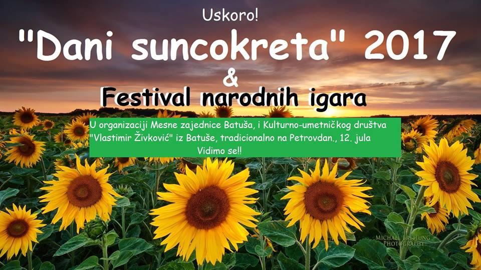 Дани сунцокрета и Фестивал народних игара у Батуши